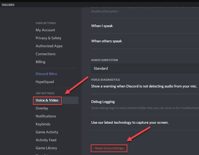 discord no audio screen share