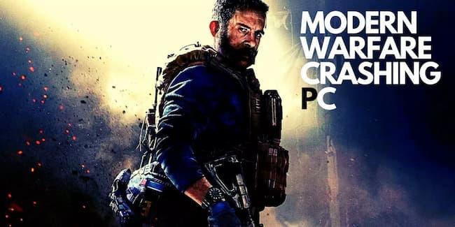 modern warfare crashing pc