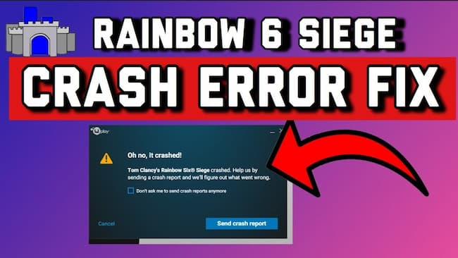 rainbow six siege crashing