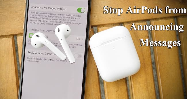 stop airpods from reading messages