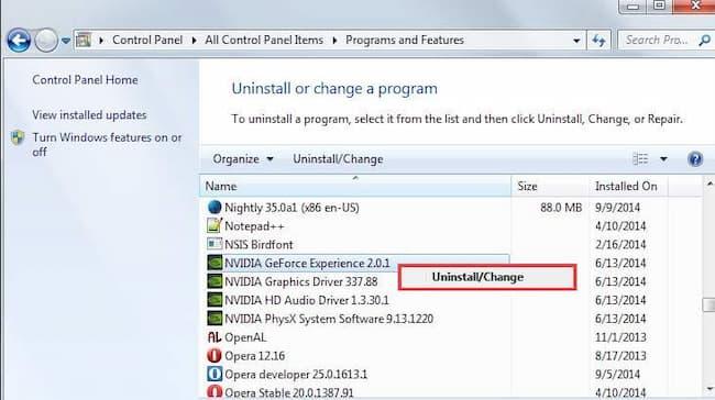 nvidia control panel missing windows 10