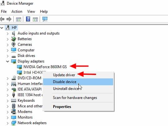 nvidia control panel client folder missing