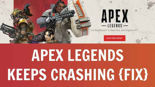 why does apex legends keep crashing