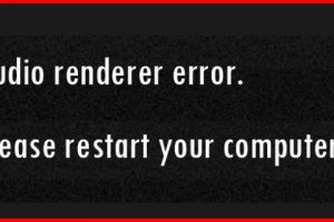 audio renderer error