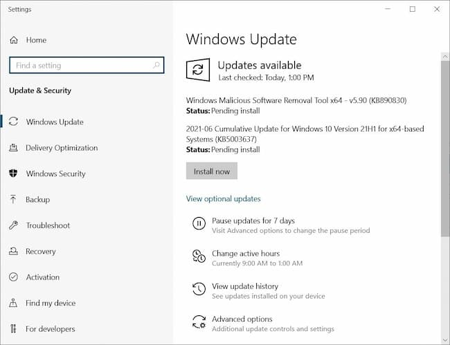 video tdr failure windows 8